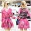 Lady Ribbon's Made &#x1F380 Lady Estelle Summery Colourful Printed Chiffon Dress thumbnail 1