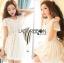 Lady Ribbon เสื้อผ้าเกาหลี LR14140716 &#x1F380 Lady Ribbon's Made &#x1F380 Lady Cassnadra Pure Elegant Lace and Chiffon White Mini Dress มินิเดรสผ้าซิลล์ thumbnail 2