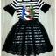 Lady Ribbon Korea Brand SW 06060616 Sweet Bunny Present... Stripe A-line Dress With Black Lace Skirt Set thumbnail 6