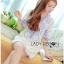 Lady Ribbon Korea Mini Dress LR14270616 &#x1F380 Lady Ribbon's Made &#x1F380 Lady Rachel Summery Classic Blue and White Embroidered Dress thumbnail 2