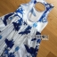 Lady Ribbon's Made &#x1F380 Lady Grace Sexy Elegant White and Blue Printed Cut-Out Back Maxi Dress thumbnail 10
