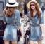 Lady Ribbon Korea Dress LR03160616 &#x1F380 Lady Ribbon's Made &#x1F380 Lady Jennifer Sporty Chic Denim Mini Dress thumbnail 1