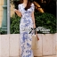 Lady Ribbon's Made &#x1F380 Lady Meryl Sweet Sunshine Floral Print Maxi Wrap Dress เ thumbnail 7