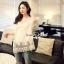Lady Ribbon Korea SS02060616 Seoul Secret Say's... Lightly Cream Knitty Blouse thumbnail 3