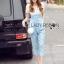 Lady Ribbon Korea dress LR06190516 &#x1F380 Lady Ribbon's Made &#x1F380 Lady Korea dress Sophie Smart Casual White Lace and Blue Jumpsuit thumbnail 4