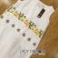 Lady Ribbon Dress LR11300516 &#x1F380 Lady Ribbon's Made &#x1F380 Lady Amelia Natural Little Bee Embroidered Ruffle Chiffon Dress เดรสแขนกุด thumbnail 6