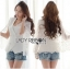 Lady Ribbon White Lace Jacket thumbnail 1