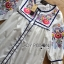Lady Ribbon Korea Dressเสื้อผ้า LR08010816 &#x1F380 Lady Ribbon's Made &#x1F380 Lady Alexandria Country Feminine Flower Embroidered Button-Down Cotton Dress thumbnail 5