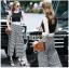Lady Ribbon Korea Dress Korea Closet LR04300616 &#x1F380 Lady Ribbon's Made &#x1F380 Lady Celina Minimal Chic Cropped Top and Striped Pants Set thumbnail 1