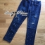 Lady Ribbon Korea เสื้อผ้าเกาหลี ของแท้พร้อมส่ง Lady Ribbon Denim LR17250716 &#x1F380 Lady Ribbon's Made &#x1F380 Lady Kim Skinny Jeans with Crystal Embellished thumbnail 6