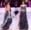Lady Ribbon Korea LR10230516 &#x1F380 Lady Ribbon's Made &#x1F380 Lady Klara Colourful Mini Floral Embroidered Black Tulle Maxi Dress thumbnail 2