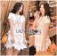 Lady Ribbon's Made &#x1F380 Lady Elizabeth Sweet Feminine Layered Mini Lace Dress in White thumbnail 1
