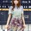 Mixed Printed Chiffon Lady Ribbon Dress thumbnail 1
