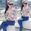 Brand Sevy Tropical Printed Sweater Jacket thumbnail 3
