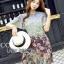 Mixed Printed Chiffon Lady Ribbon Dress thumbnail 4