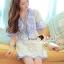 Lady Ribbon Korea Brand SS14300416 Seoul Secret Say's .... Dotty Dotty Pastel Blue Curvly Dress thumbnail 4