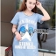 Lady Ribbon Korea Dress LR01130616 &#x1F380 Lady Ribbon's Made &#x1F380 Lady Julie Sporty Style Printed and Sequin Denim Dress thumbnail 3