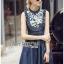 Lady Ribbon's Made &#x1F380 Lady Katie Embroidered Frilled Sleeveless Denim Korea Mini Dres thumbnail 2
