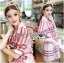 Lady Ribbon's Made &#x1F380 Lady Susan Double-Breast Checked Pink Trench Coat Korea thumbnail 3