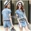 เสื้อผ้าเกาหลี LR11110716 &#x1F380 Lady Ribbon's Made &#x1F380 Lady Cindy Little Western Cowboy Denim Shirt and Shorts Set with Belt thumbnail 3
