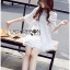 Lady Ribbon Korea Mini Dress LR19130616 &#x1F380 Lady Ribbon's Made &#x1F380 Lady Jessica Sweet and Pretty Embroidered Striped Mini White Dress thumbnail 2