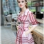 Lady Ribbon's Made &#x1F380 Lady Susan Double-Breast Checked Pink Trench Coat Korea thumbnail 5