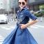 Brand Sevy Smart Casual A Line Denim Mini Dress thumbnail 3