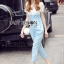 Lady Ribbon Korea dress LR06190516 &#x1F380 Lady Ribbon's Made &#x1F380 Lady Korea dress Sophie Smart Casual White Lace and Blue Jumpsuit thumbnail 2