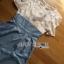 Lady Ribbon Korea dress LR06190516 &#x1F380 Lady Ribbon's Made &#x1F380 Lady Korea dress Sophie Smart Casual White Lace and Blue Jumpsuit thumbnail 5