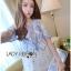 Lady Ribbon Korea Mini Dress LR14270616 &#x1F380 Lady Ribbon's Made &#x1F380 Lady Rachel Summery Classic Blue and White Embroidered Dress thumbnail 3