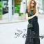 Lady Ribbon Korea Closet SB 05300516 Sweet Bunny Present... Leaves Blue Lace Wide Pants Set thumbnail 5