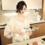 Lady Ribbon Korea SS02060616 Seoul Secret Say's... Lightly Cream Knitty Blouse thumbnail 2