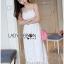 Lady Ribbon Dress LR08300516 &#x1F380 Lady Ribbon's Made &#x1F380 Lady Lauren Sweet Feminine Lace Maxi Slip Dress in White เดรสยาว thumbnail 2