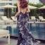 Lady Ribbon Korea LR10230516 &#x1F380 Lady Ribbon's Made &#x1F380 Lady Klara Colourful Mini Floral Embroidered Black Tulle Maxi Dress thumbnail 3