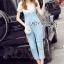 Lady Ribbon Korea dress LR06190516 &#x1F380 Lady Ribbon's Made &#x1F380 Lady Korea dress Sophie Smart Casual White Lace and Blue Jumpsuit thumbnail 3