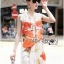 Lady Ribbon's Made &#x1F380 Lady Kimberley Smart Casual Holiday Orange Flower Printed Chiffon thumbnail 7