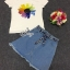 Brand Sevy Two Pieces Of Sunflower T-Shirt With Denim Skirt thumbnail 4