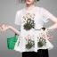 Brand Seoul Secret Say's... Blossom Stickly Nifty A-Shape Blouse Lady thumbnail 3