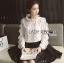Lady Ribbon Dress LR10120516 &#x1F380 Lady Ribbon's Made &#x1F380 Lady Nicole Minimal Feminine Polka Dots Printed Ruffle Blouse Dress thumbnail 2