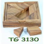แทนแทรมไม้ Tangram(squaer box)