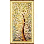 ชุดปักครอสติช ลายต้นไม้ทองคำ ( งานปักเต็มลาย ) ขนาด 65*120 ซม.ผ้าครอสติช 11CTพิมพ์ลายปักเต็มลายผ้า ไหมคอตตอน 44 สี ผังลาย เข็ม