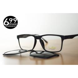 [LD7016 ดำด้าน] กรอบแว่นคลิปออนแม่เเหล็ก น้ำหนักเบา ยืดหยุ่น