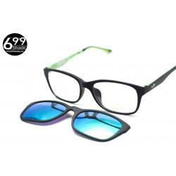 [LD7003 ปรอทเขียว] กรอบแว่นคลิปออนแม่เเหล็ก เบา ยืดหยุ่น บิดงอได้ ส่งฟรี
