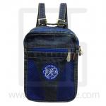 Jeans Denim Backpack, graphics pattern1, Medium Size, Blue