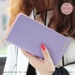 กระเป๋าสตางค์ ใบยาว สีม่วง รุ่น Beauty KQueenStar
