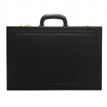 Briefcase, Suitcase, Travel bag, synthetic leather, Black, Smooth surface body