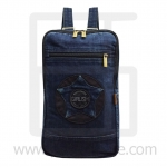 Jeans Denim Backpack, graphics pattern2, Medium Size, Navyblue
