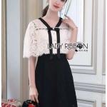 🎀 Lady Ribbon's Made 🎀 Lady Cheryl Sweet Elegant Black and White Lace Dress