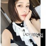 🎀 Lady Ribbon's Made 🎀 Lady Veronica Ruffle-Neck Sleeveless Black Dress