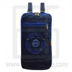 Jeans Denim Backpack, graphics pattern2, Medium Size, Blue